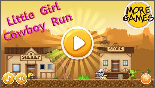 Little Girl Cowboy Run