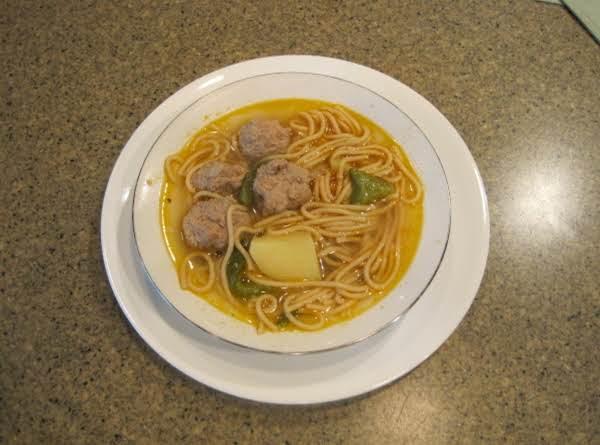 Turkey Meat Balls (sopa De Albondigas De Pavo)