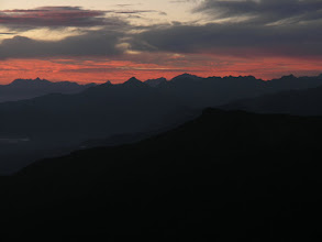 Photo: Across the Andes at dawn