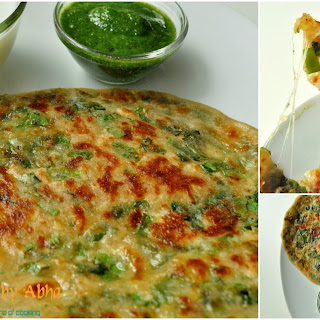 Spring Onion and Cheese Parantha