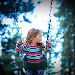 Swinging with Trees by Kamber Eggers - Babies & Children Children Candids