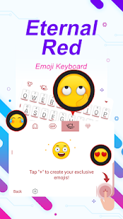 Eternal Red Theme&Emoji Keyboard - náhled