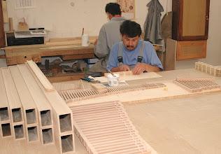 Photo: Lesene piščali v nastajanju - Holzpfeifen entstehen - Wooden pipes beinig built