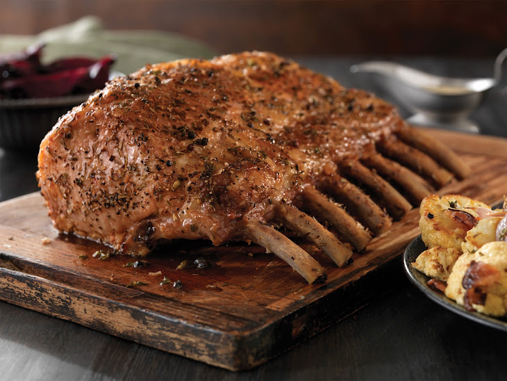 Herbed Pork Ribeye Roast with Cauliflower Recipe