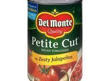 Spicy ditalini  3cans chopped tomatoes with jalapeno ( Delmonte)  1 lb lean hamburg  1...