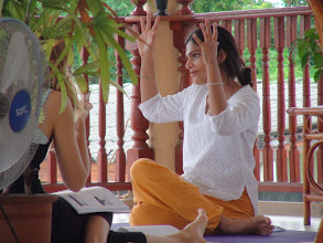 Photo: Jeenal Mehta during Yoga class in Chiang Mai, Thailand.