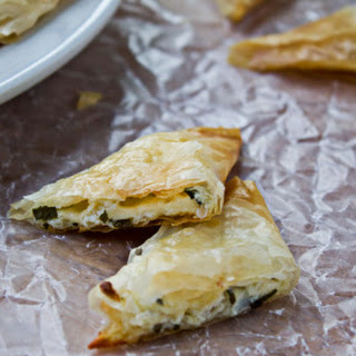 Three Cheese Phyllo Triangles