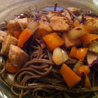 Miso Marinated Chicken with Buckwheat Udon.