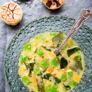 Miso Soup with Roasted Garlic and Seaweed Recipe