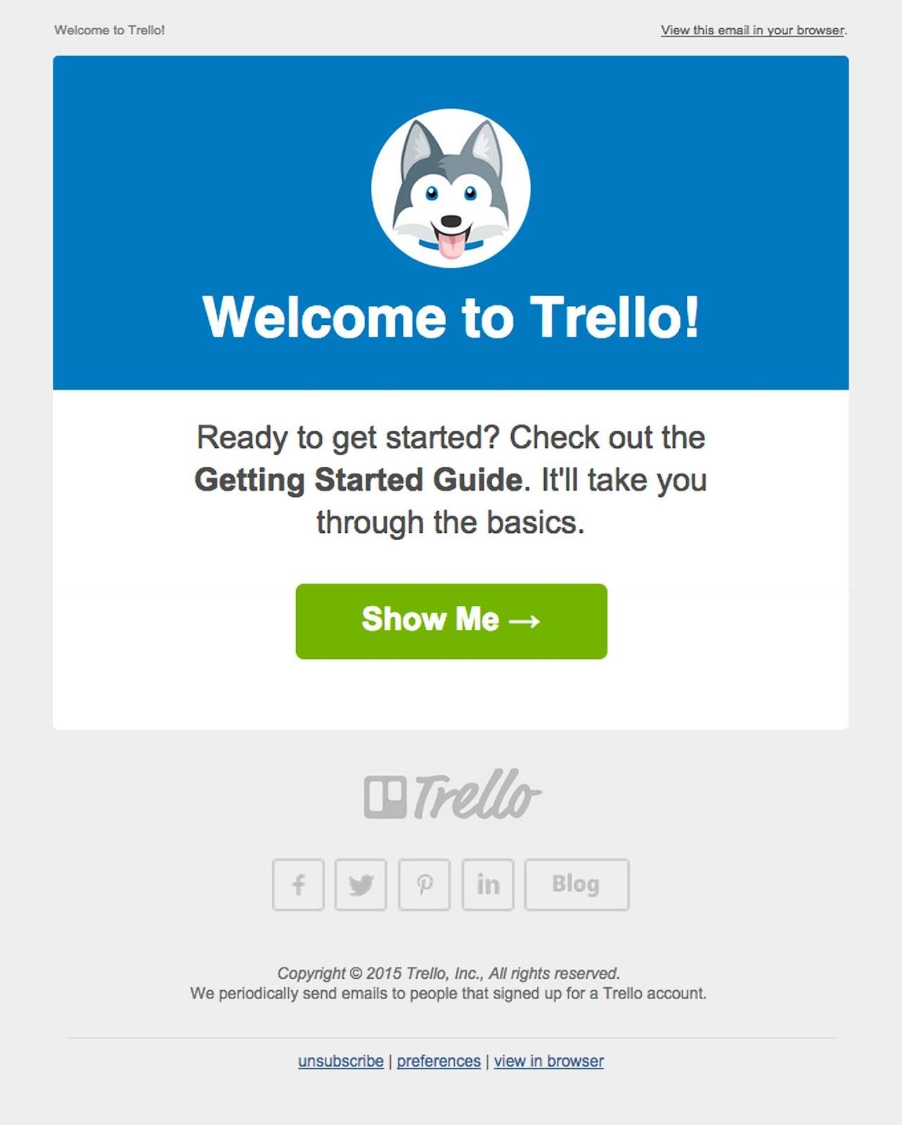Trello email example
