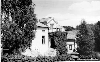 Photo: Affär vid Storå hyttbleck 1950. Franssons affär