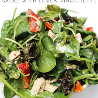 Chicken & Spinach Salad with Lemon Vinaigrette