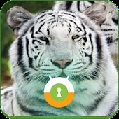White Tiger Wall & Lock