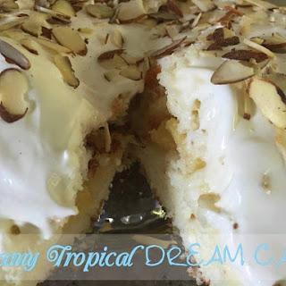 Cream Tropical Dream Cake.