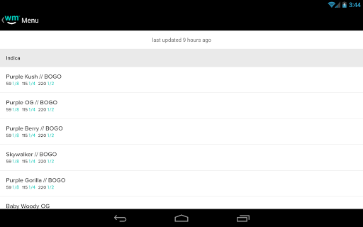 Weedmaps Marijuana Cannabis Weed Reviews แอป (APK) ดาวน์โหลดได้ฟรีสำหรับ Android/PC/Windows screenshot