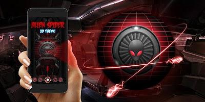 screenshot of Alien Spider 3D Theme