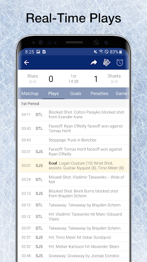 Hockey NHL Live Scores, Stats & Schedules - screenshot