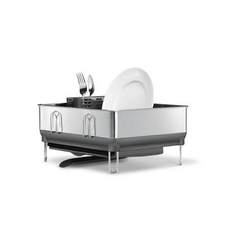 Diskställ Simplehuman kompakt diskställ med ram av rostfritt stål
