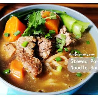 Stewed Pork Noodle Soup.