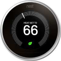 Nest thermostat leaf eco