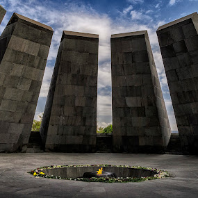 Armenian Genocide memorial complex by Amir Kh - Buildings & Architecture Statues & Monuments ( genocide, building, memorial, armenia, artistic, architectural, architecture, erevan, yerevan, war )