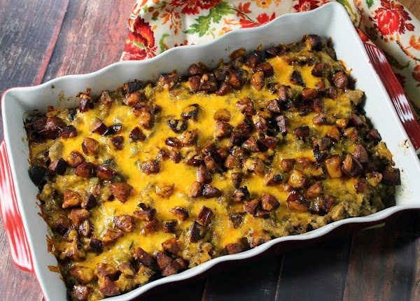 Top with remaining sausage and cheese. Bake 25-30 minutes.