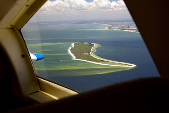 Photo: Flying back down the coast from St Pete's