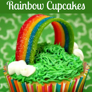 Somewhere Over the Rainbow Gluten Free Cupcakes