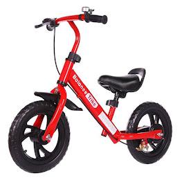 Bicicleta fara pedale, reglabila, pentru copii intre 3-5 ani, Rosu