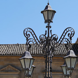 The Ligthning Style by Joatan Berbel - Artistic Objects Other Objects ( artistic objects, spain, granada, andalucia, lamp post, style, old town )