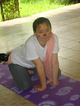 Photo: Kids Yoga class - Bao acting to be a cat!