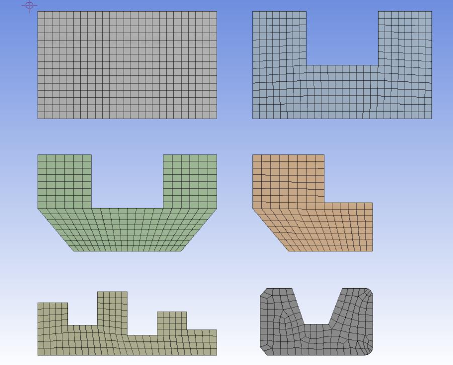 ANSYS | Автоматическое построение структурированной сетки по граням сложной топологии