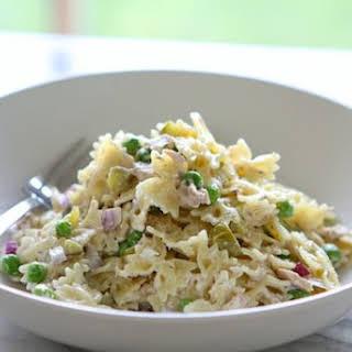 Tuna Pasta Salad with Dill & Peas.