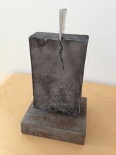 Photo: Wedge 1 - 11x6x5.5 Lost Foam Aluminum Casting, highly-polished aluminum wedge, Ipe base