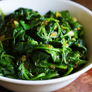 Indian Spiced Spinach.