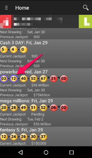California Lotto Droid- screenshot