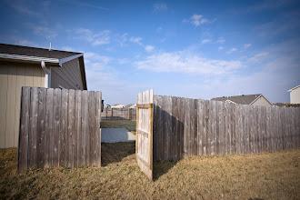 Photo: One of two gates into backyard