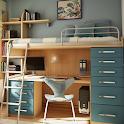 Study desk design icon