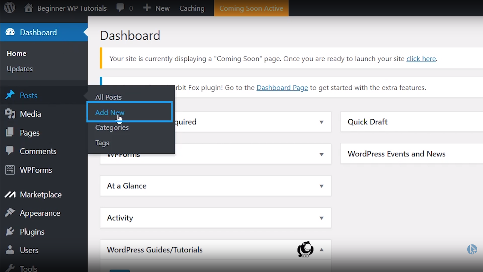add new blog post wordpress tutorial for beginners