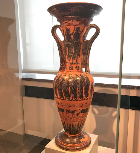 Grave-loutrophoros.jpg - Grave loutrophoros, a ritual vessel used to transport water for the marriage bath, dating to 500-510 B.C.