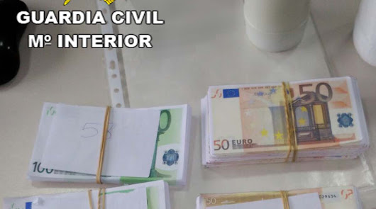 La Guardia Civil detiene a un hombre acusado de falsificar 40.000 euros
