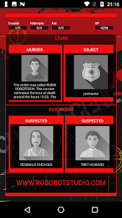 Crime scene investigation - Detective Game Screenshot