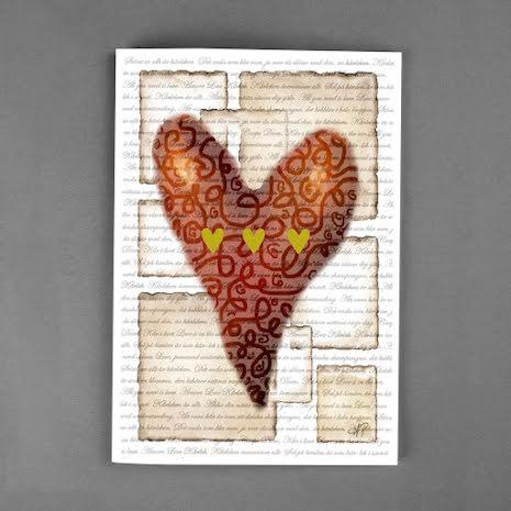DELUXE kort - Hjärta