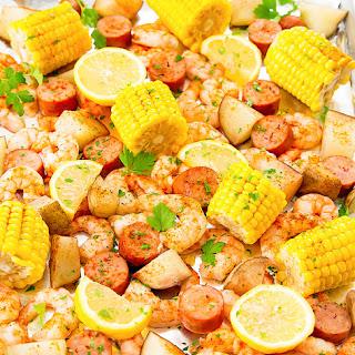 Foil Sheet Pan Oven Shrimp Boil Recipe