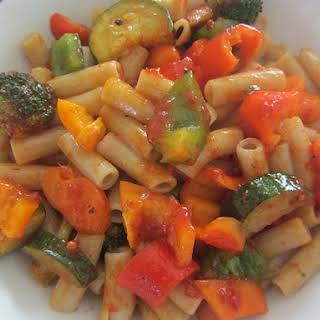 Vegetable Harissa Pasta.