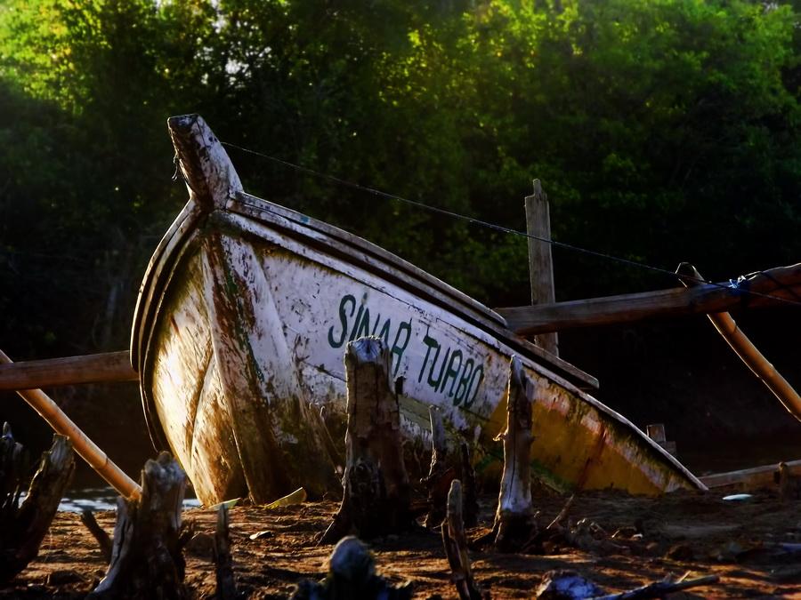 The Boat by Erwan Setyawan - Landscapes Beaches