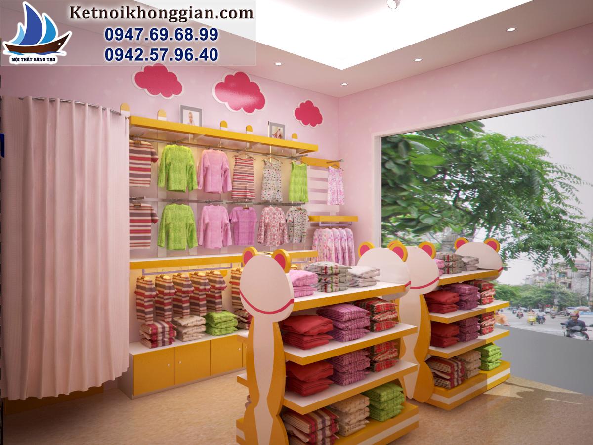 thiết kế shop thời trang mẹ và bé chất lượng cao