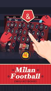 Milan Football Theme&Emoji Keyboard - náhled