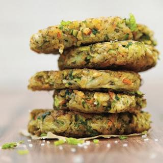 Kolokithokeftedes (Greek Squash Fritters) [Vegan].