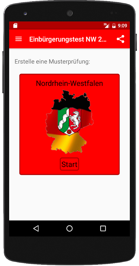 Einbürgerungstest NW 2017 – Screenshot
